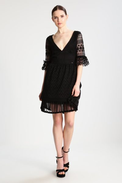 Summer dress in jet black w frost g design by MARCIANO GUESS - 100 polyester