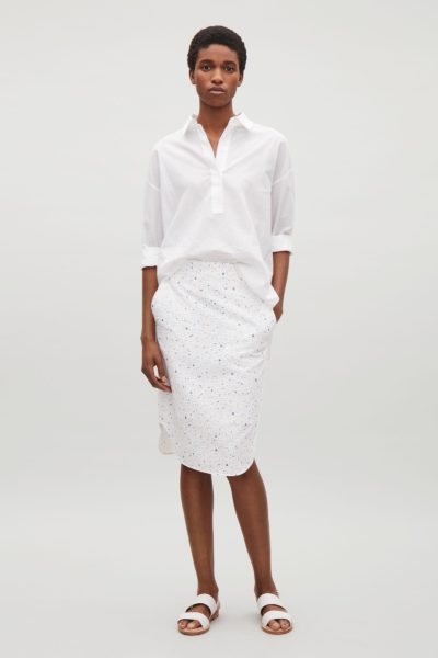 cos-White-Patterned-Cotton-Skirt (1)