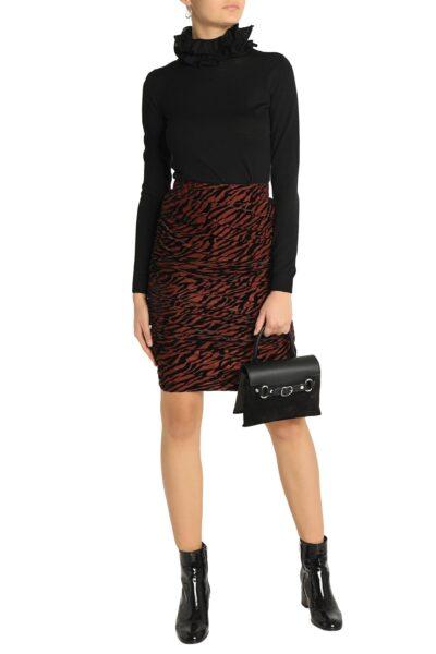 ganni-Brick-Ruched-Devore-velvet-Skirt (1)