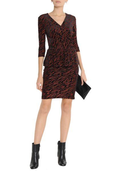 ganni-Brown-Zebra-print-Devore-velvet-Peplum-Dress (1)