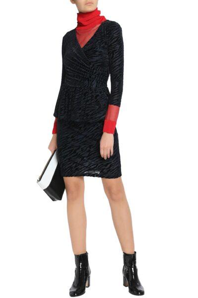 ganni-Navy-Zebra-print-Devore-velvet-Peplum-Dress (1)