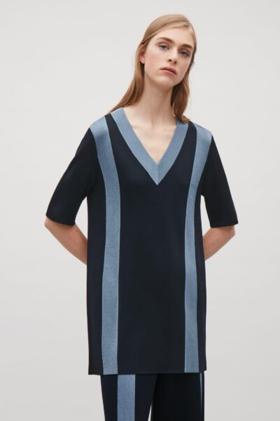 cos-Dark-Navy-Top-With-Contrast-Stripes