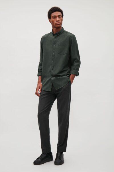 cos-Forest-Green-Button-Collar-Shirt (1)