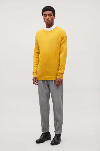 cos-Yellow-Fine-Silk-merino-Jumper